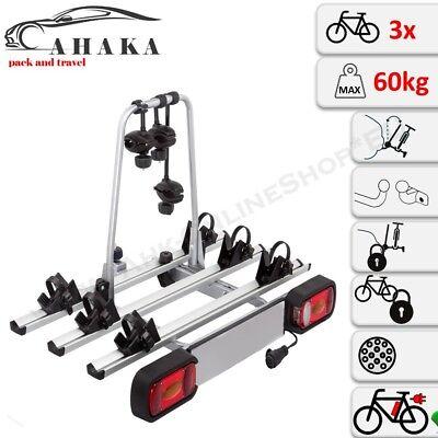 AHIRO3 Portabicicletas 3 Bicicletas Plegable Bloqueable Ebike de Enganche