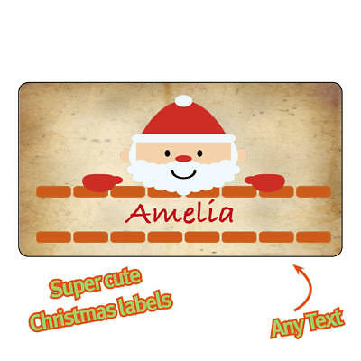 Personalised Christmas Stickers Labels name Santa Kraft Reindeer Gifts - 1112](Halloween Name Labels)