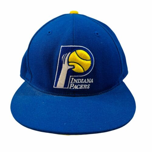 Mitchell & Ness Indiana Pacers retro throwback logo fitted hat cap 7 3/4
