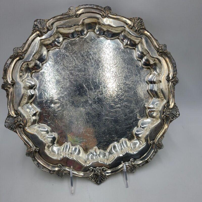 Vintage WSB Silver Company Serving Platter Tray Pattern No 1455 E.P.C. Copper