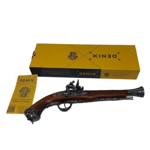 Denix Pirate 18th Century Flintlock Blunderbuss Pistol Replica Gun - Gray Finish