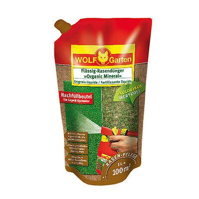 Wolf Garten Flüssig-Rasendünger Organic Mineral LO100R für 100qm Nachfüllpack