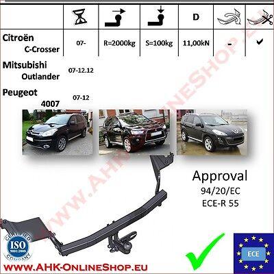 Für Mitsubishi Outlander I CU0W 03-07 Anhängerkupplung starr+ES 13p uni Kpl AHK