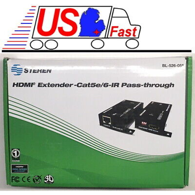 Quality HDMI Extender Single Cat5e or Cat6 Cable/Cord, Infrared/IR Pass-Through for sale  Shipping to India