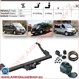 AHK ES13 Opel Vivaro Bj.2001-2014 Anhängevorrichtung Anhängerkupplung komplett