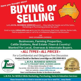 Wanted: WANTED TO PURCHASE: Darwin  Northern Territory