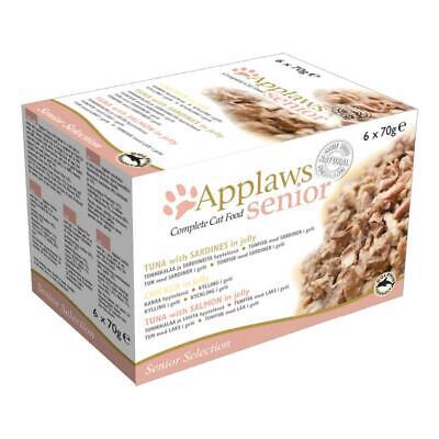 APPLAWS SENIOR CAT FOOD Multi-pack Tuna Chicken Salmon Sardines Natural Premium