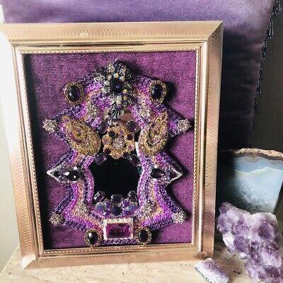 Vintage Jewelry Art Framed Purple Jewels 10
