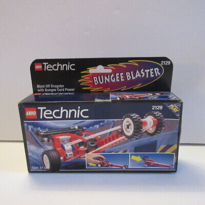 LEGO Technic BUNGEE BLASTER Blast Off Dragster with Bungee Cord Power # 2129