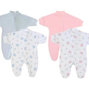 BabyPrem Premature Preemie Baby Clothes 2 Pack Sleepsuits