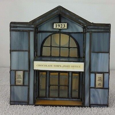Hershey's Chocolate Town USA Stained Glass Limited Edition #0718 Post Office