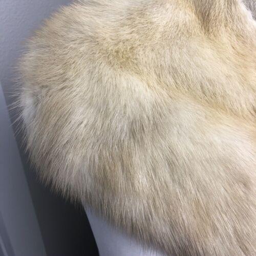 Vintage 1940s Genuine Mink Fur Collar Honey Blonde Hook Closure Hollywood Glam