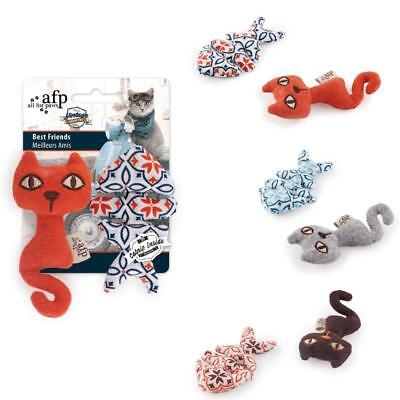 All for Paws VINTAGE CAT BEST FRIENDS Catnip Duo Stuffed Kitten Play Toy Set (Best Toys For Kittens)