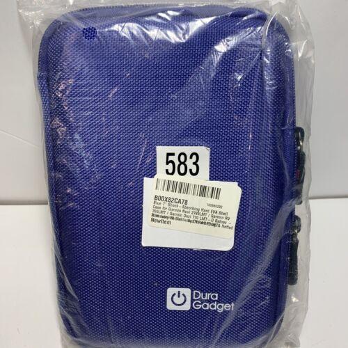 "Garmin Hard Carry Case Pouch Bag Zipper Pouch 7"" GPS Garmin Nuvi Case New Purple"
