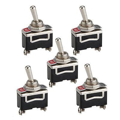 5 Stueck Fledermaus Schraubklemmen ON/OFF Schalter SPST Taster Switch ?11,6mm GY - Spst Taster Switch