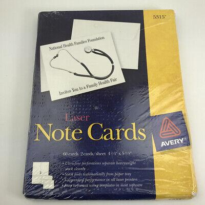 Nos Avery Note Cards 4 14 X 5 12 Laser Printer 5315 50 Cardsenvelopes