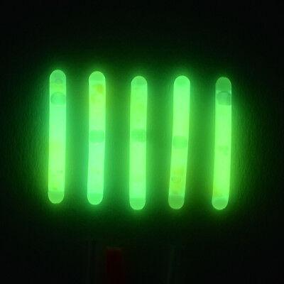5 Knicklichter grelles Grün Bissanzeiger mit Adapter Angeln Angelhotspot X1 ()