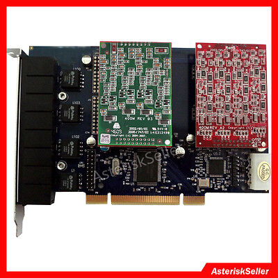 TDM800P 4 FXS+4 FXO,FXS FXO Voice Board PCI Asterisk Card FreePBX Issabel Dahdi