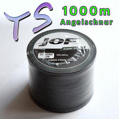 1000m (0,039€/m) geflochtene Angelschnüre Schwarz 4 x Fach Schnur