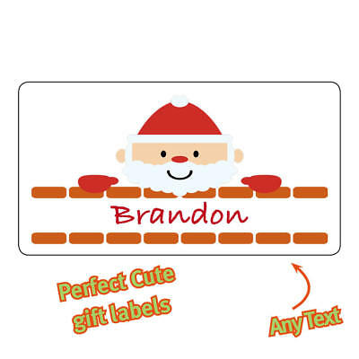 Personalised Father Christmas Stickers Labels name cute tags Santa Gifts - 1111](Halloween Name Labels)
