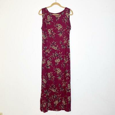 T & Company womens midi dress 16 floral red sleeveless