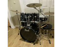 Fully Refurbished Pearl Forum Drum Kit with Sabian Cymbals