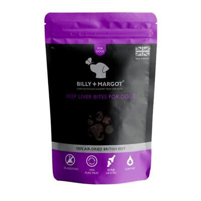 Billy and Margot BEEF LIVER BITES Dog Puppy Low Fat No Grain Natural Treats 60gm