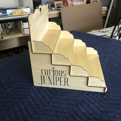 Product Display Stand Craft Show Laser Cut 4 Shelves With Custom Logos