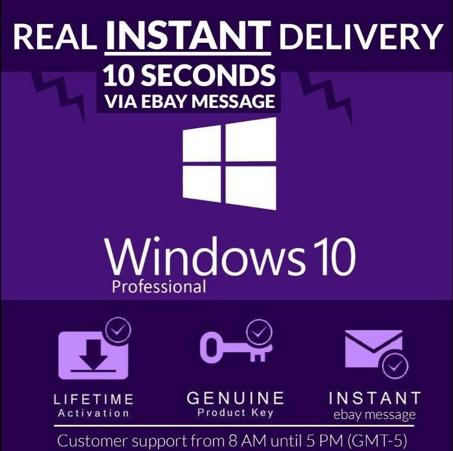 Windows 10 Pro Professional 32/64 Bit Genuine License Key