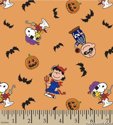 Charlie Brown Lucy Halloween Costumes (Peanuts Snoopy Lucy Charlie Brown Halloween Orange Cotton Fabric by the)
