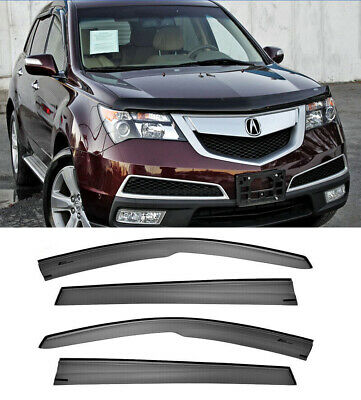 For 07-13 Acura MDX Mugen Visors JDM Style Side Vents Window Rain Guards New