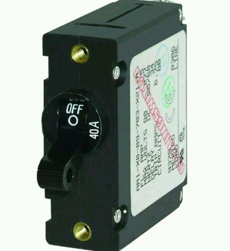 Blue Sea 7224 AC/DC Single Pole Magnetic World Circuit Breaker 40 AMP FREE SHIP