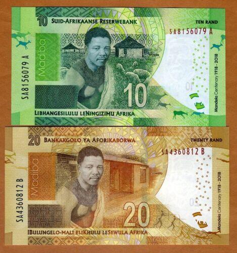 SET, South Africa 10;20 rand, 2018 P-New UNC > Commemorative