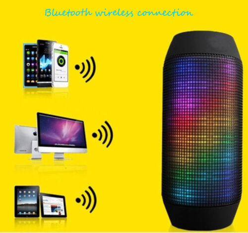 2016 Portable PULSE LED Light Stereo Wireless Bluetooth Loud Speaker W/FM Party