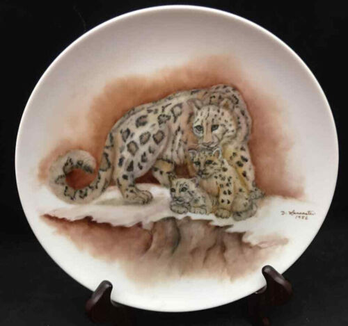 African Leopards Plate by D. Lancaster 1986