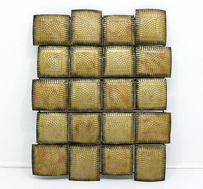 Brutalist / Metall - Skulptur / Metall Bild - 60 / 70 er - 89 cm x 72 cm x 6 cm