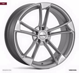 "20"" Veemann VM1 Silver with a Polished Face for Audi VW Etc"