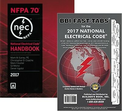 NFPA 70 : National Electrical Code (NEC), Handbook and Fast Tabs, 2017 Editions