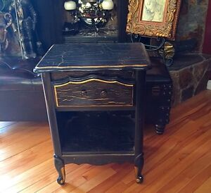 Antique Night Stand-Bed Side Table