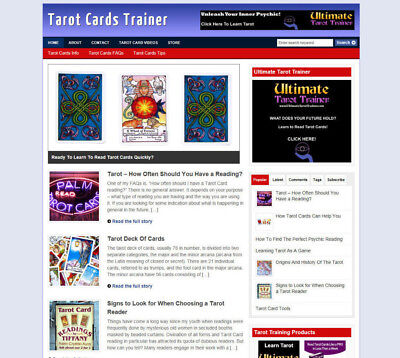 Tarot Cards Blog Website With Affiliate Store Banners Domain Hosting
