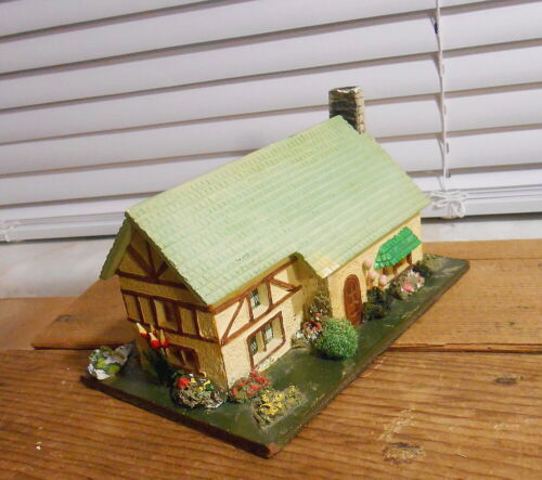 Vintage Germany Putz Wood and Stucco Village House