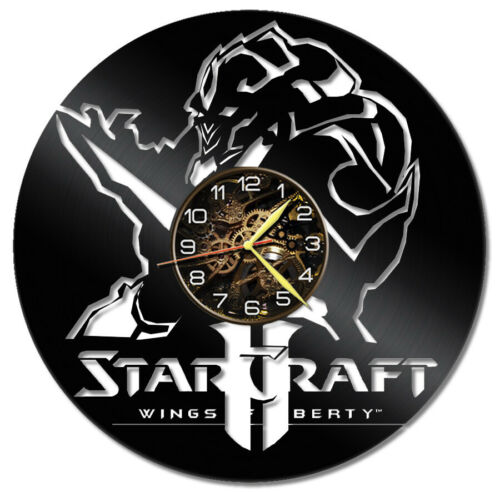 "Star Craft 2 Vinyl Wall Clock, Record Wall Clock, 12"" Vinyl Clock, Retro Gaming"