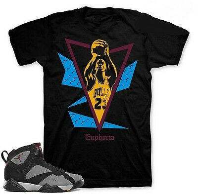 "Shirt to match Bordeaux 7 Air Jordans Sneakers""Free Throw""Black tee"