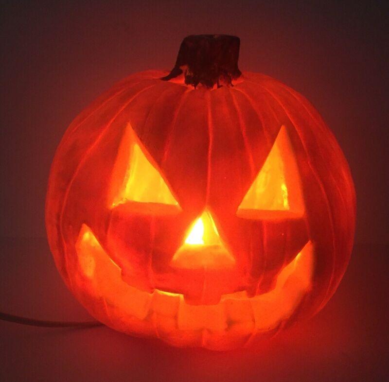 Jack O Lantern Pumpkin Light Up Orange Scary Halloween Decoration