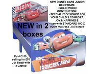 BRAND NEW IN 2 BOXES DISNEY CARS BED FOR KIDS TODDLER