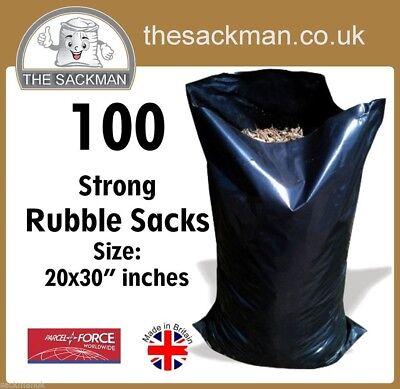 100 Heavy Duty Waste Sacks Size: 20x30