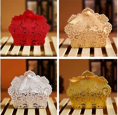 50PCS Wedding Party Favour Boxes Candy Sweet Boxes Gift Favor COLOURS & DESIGNS