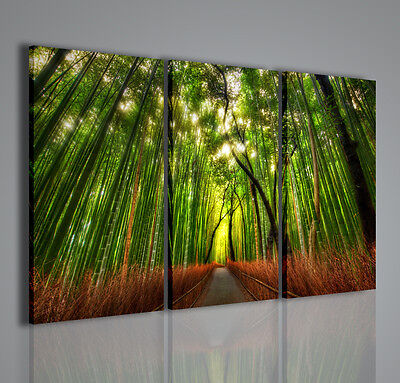 MODERNES GEMÄLDE JAPANISCH FOREST MODERNE MALEREI BAMBUS
