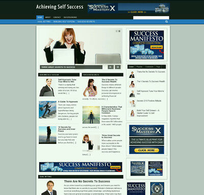Self Success Guide Blog Website With Affiliates And Free Domain Hosting