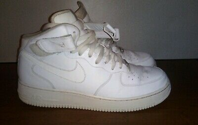 b4653f9e66a Nike AIR FORCE 1 MID 315123-111, WHITE/WHITE Men's Casual Athletic Shoes  Size 13